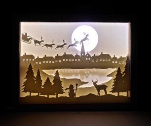 DIY Paper Cut Shadow Box