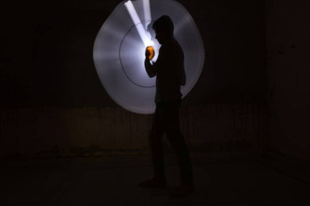 Lightsaber/lightwand for Light Painting Photography With Basic Materials