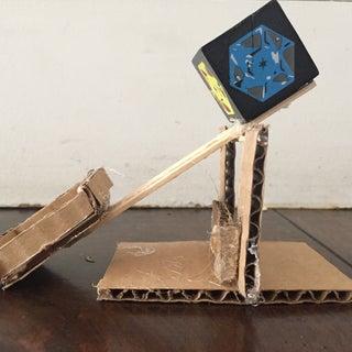 Mini Cardboard Trebuchet