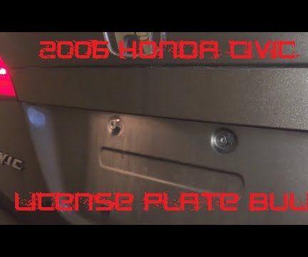 Tutorial:  Change 2006 Honda Civic License Plate Bulb