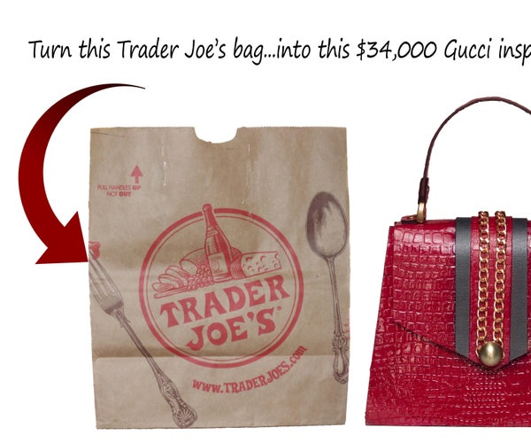 Gucci Inspired Handbag From Paper Bags