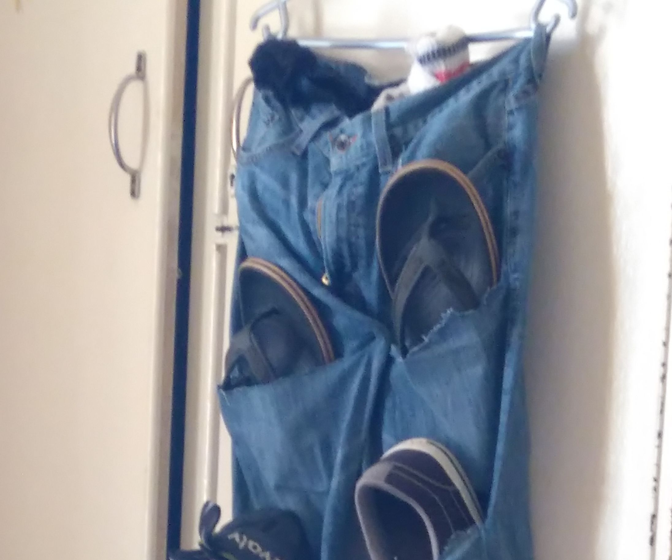 Old Jeans to Shoe Storage