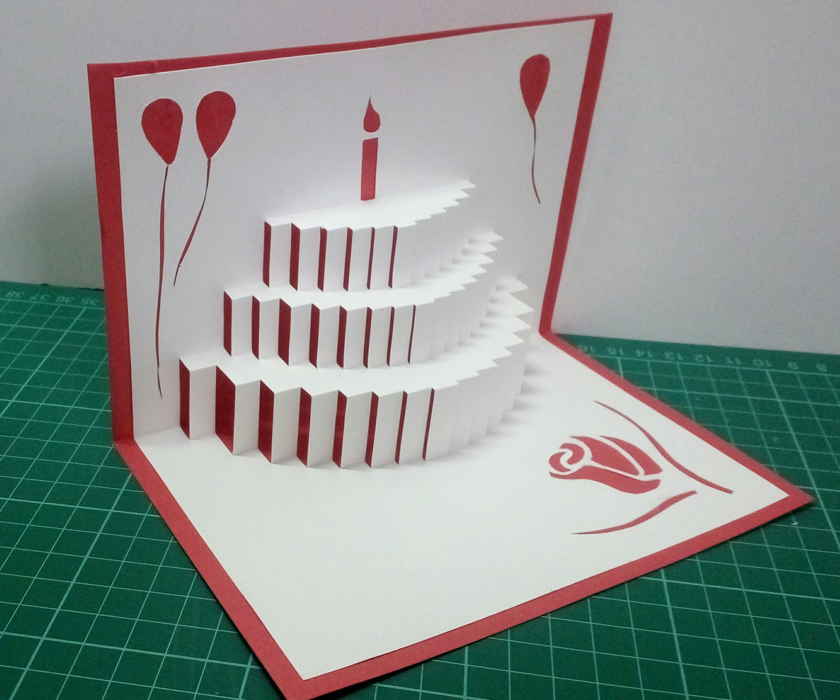 Popup Birthday Card  30 Steps with Pictures   Instructables