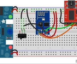 Breadboard FTDI USB Flash Loader for ESP8266-01