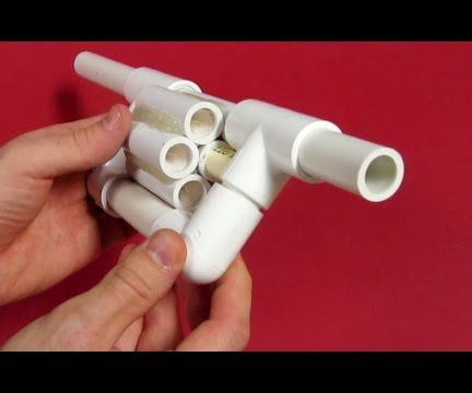 PVC Blowgun Revolver - Six Shooter