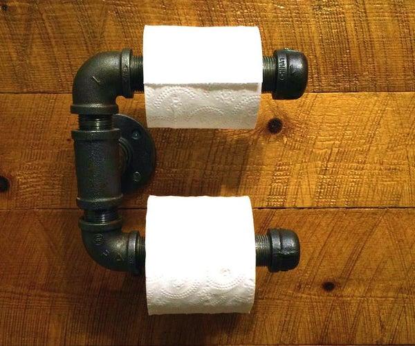 Easy DIY Steel Pipes Toilet Paper Holder