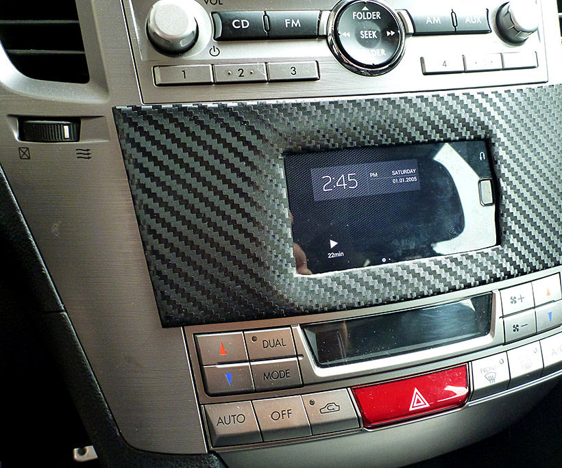 Install phone into car dashboard Subaru Legacy