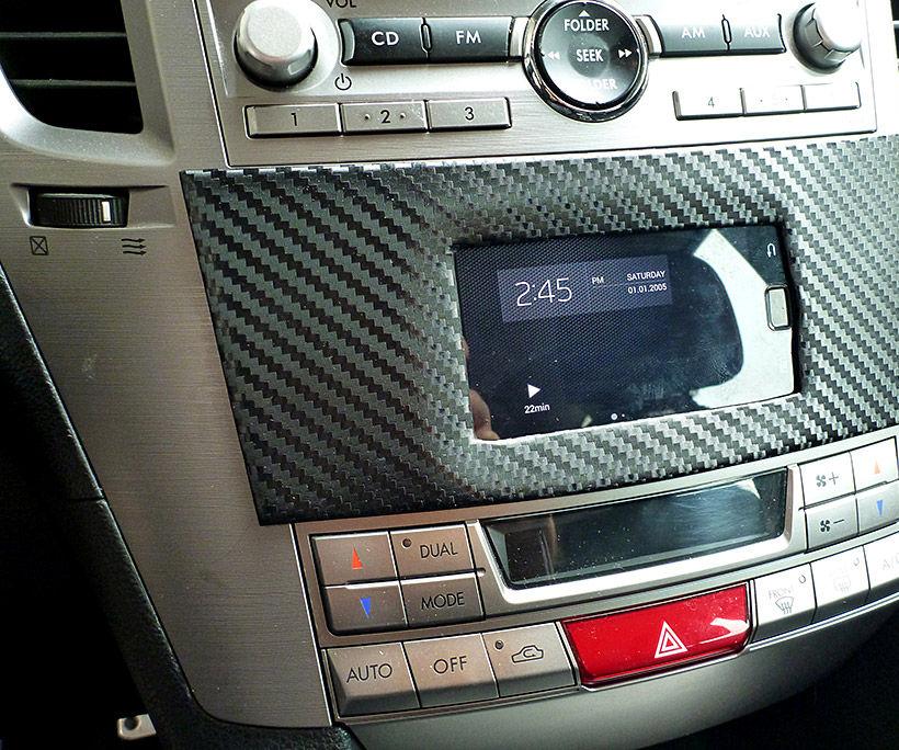 Install phone into car dashboard Subaru Legacy