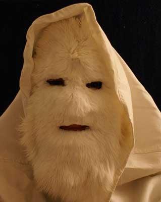 Make an Abominable Snowman Mask.
