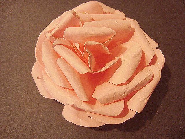 PAPER FLOWERS,  PAPER ROSE FROM COMPUTER PAPER
