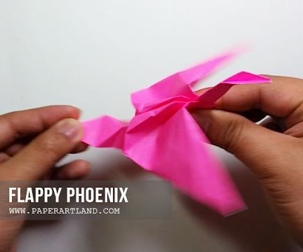 Action Origami - Flapping Phoenix
