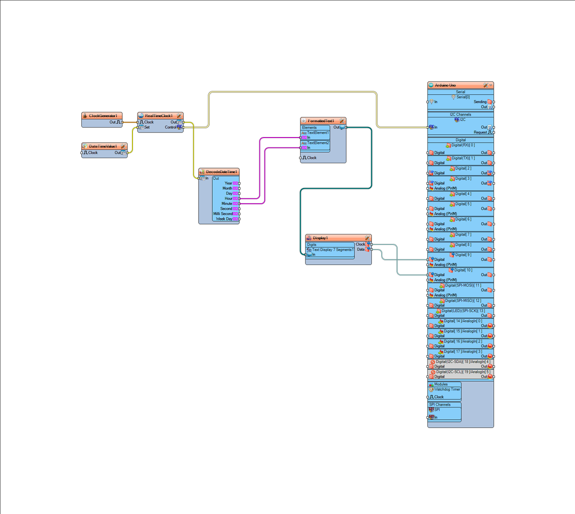 In Visuino: Connect Components
