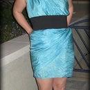Hand-Dyed, Draped Silk Dress