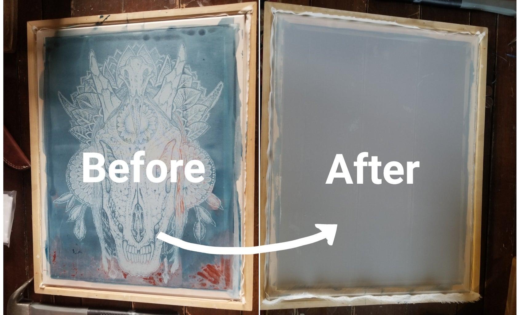 Manually Replacing a Silk Screen for Printing.