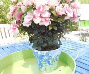 Marbleized  Flowerpots