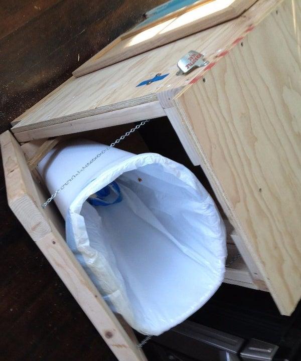Trash Can Hiding Cabinet