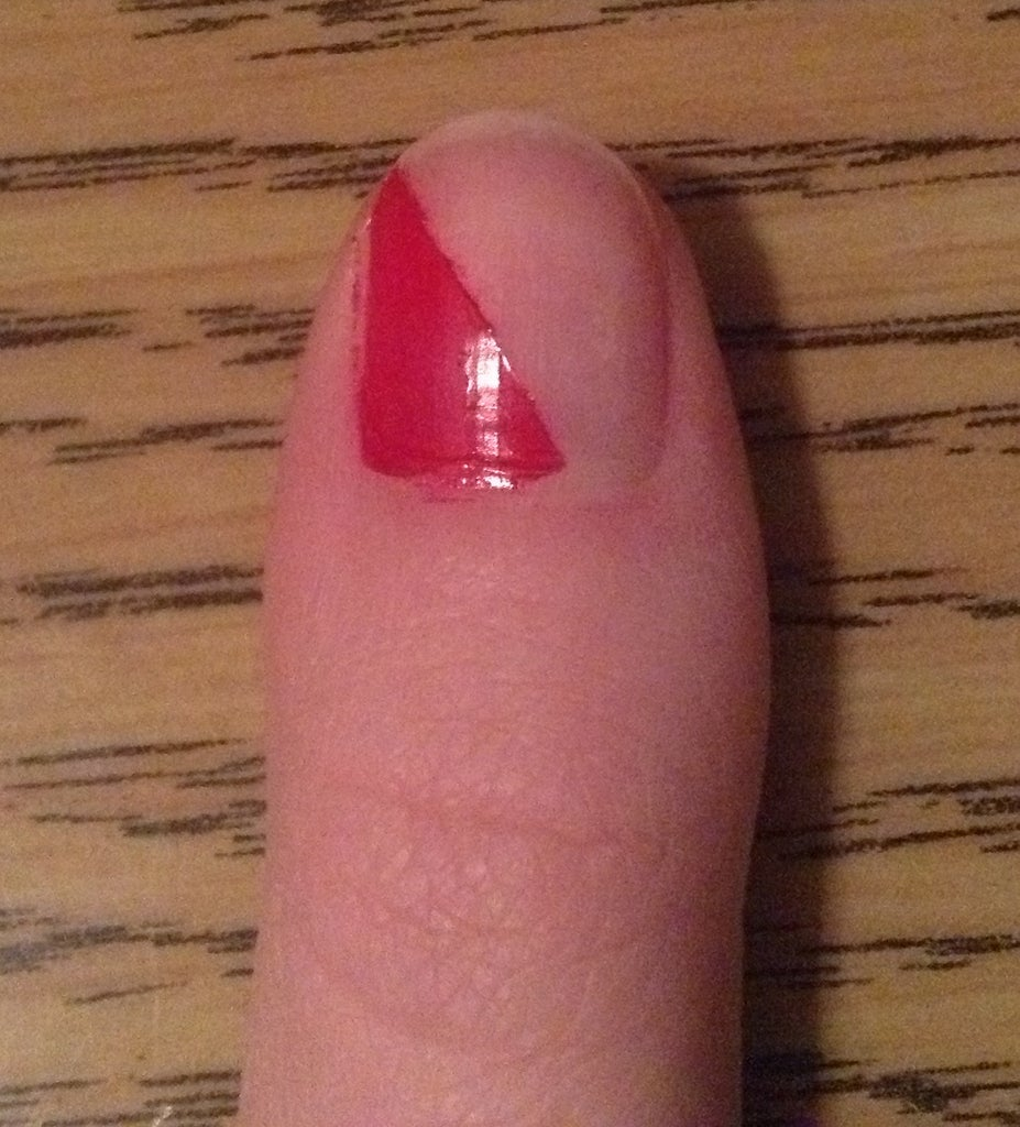 Paint Half of Nail With One Color