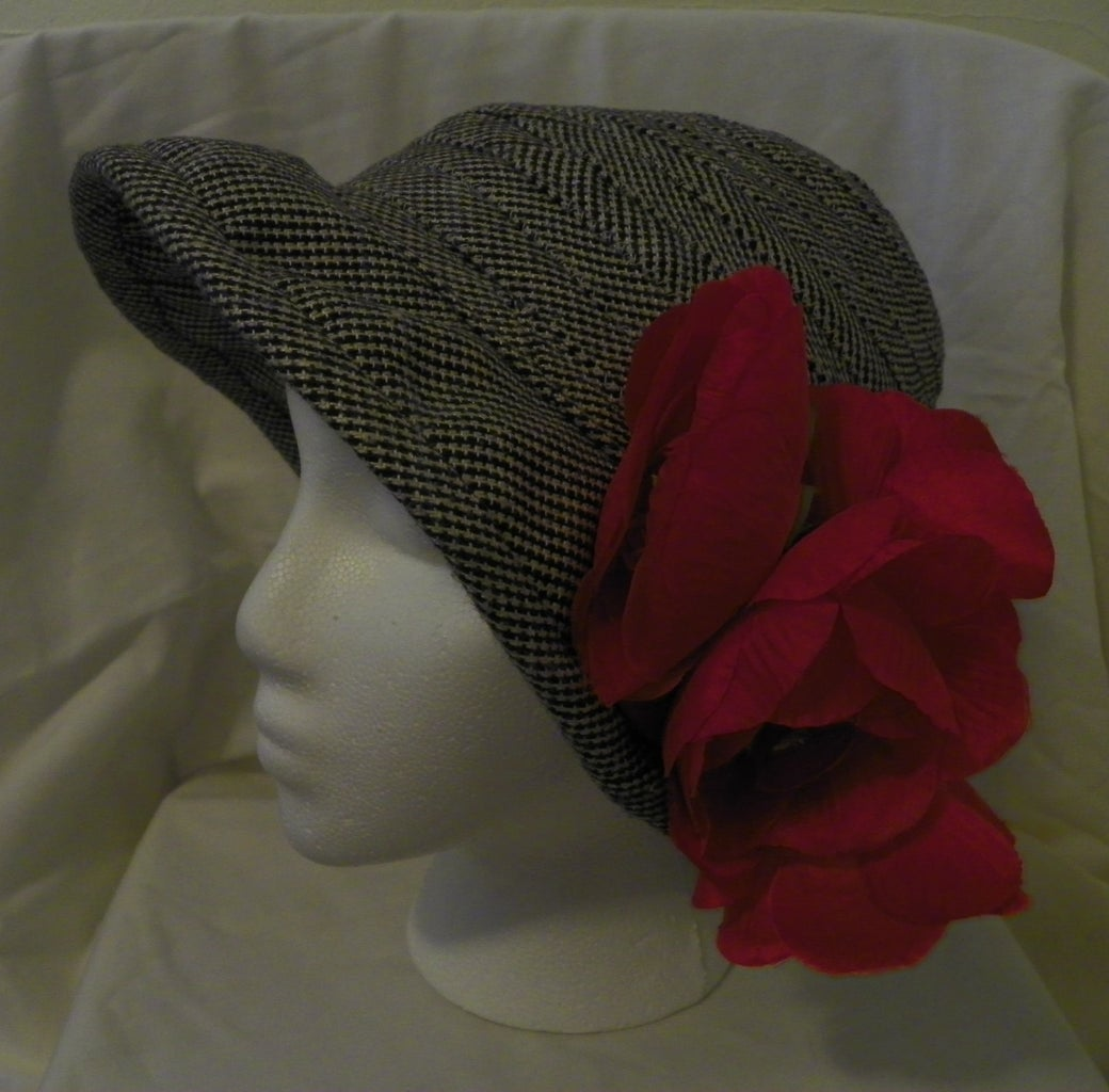 Grey Wool Hat From Suit Coat