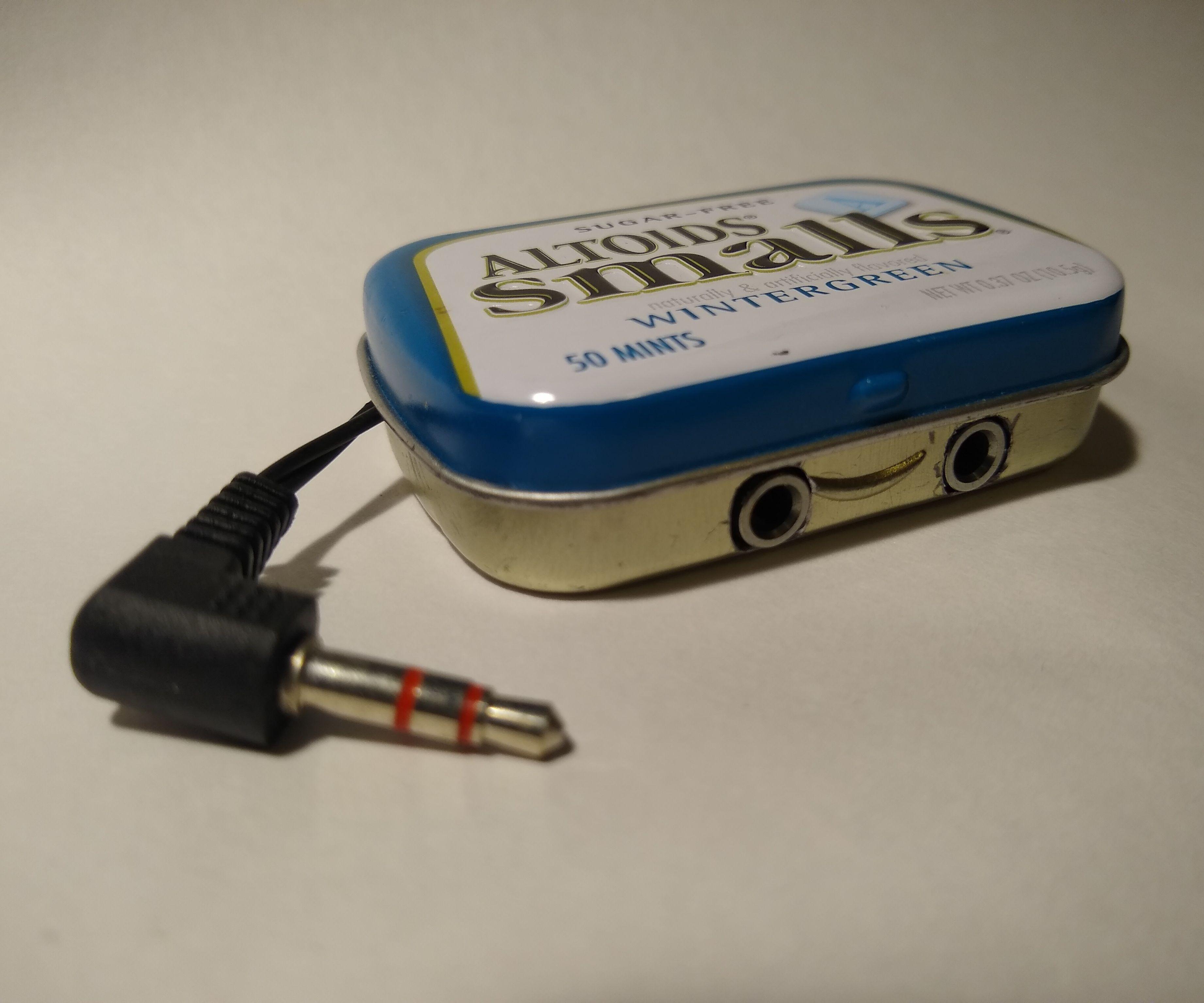 Mini Altoids Tin Audio Splitter