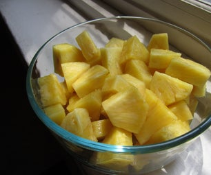How to: cut up a pineapple!