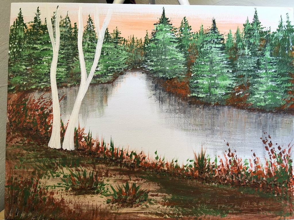 Acrylic Landscape Painting 10 Steps With Pictures Instructables