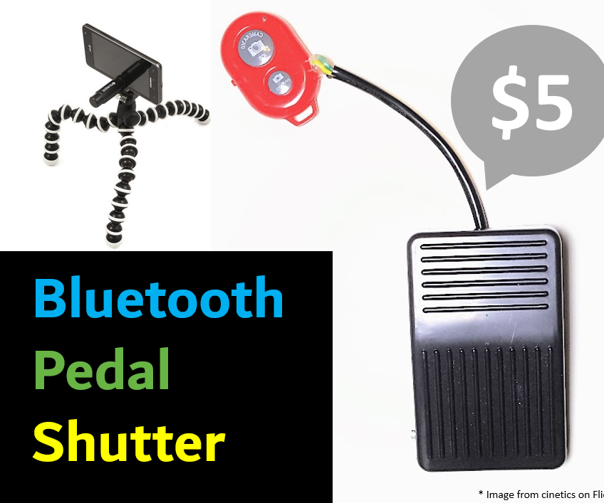 Bluetooth Pedal Switch for a Smartphone Camera
