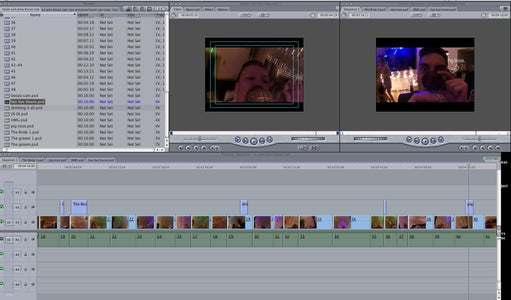 Editing the Footage.