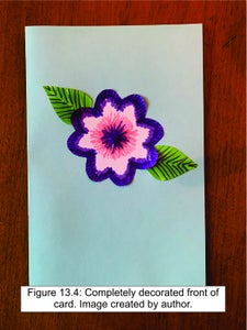 Decorate the Front of the Card.