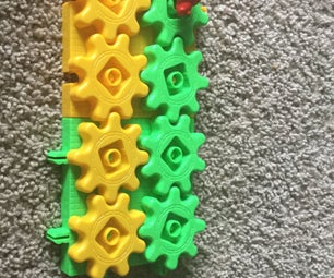 Moving a 3D Printed Turtle on 3D Printed  Gears