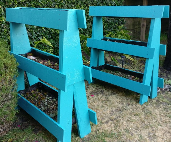 Recycled Vertical A-Shaped Pallet Garden