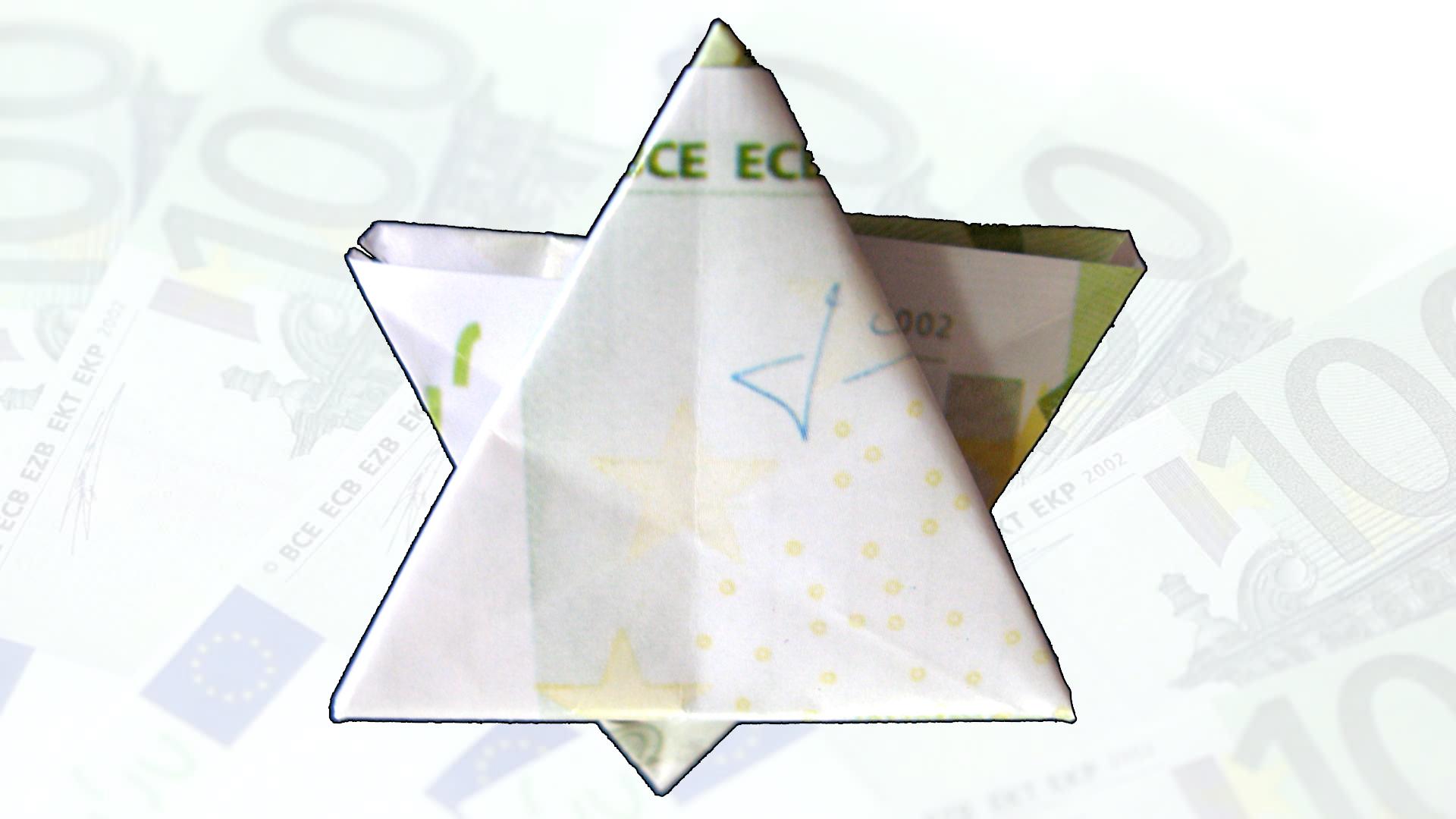 Easy Money Origami Star of David