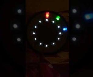 使用Arduino + 60LED WS2812B模拟数字时钟的挂钟