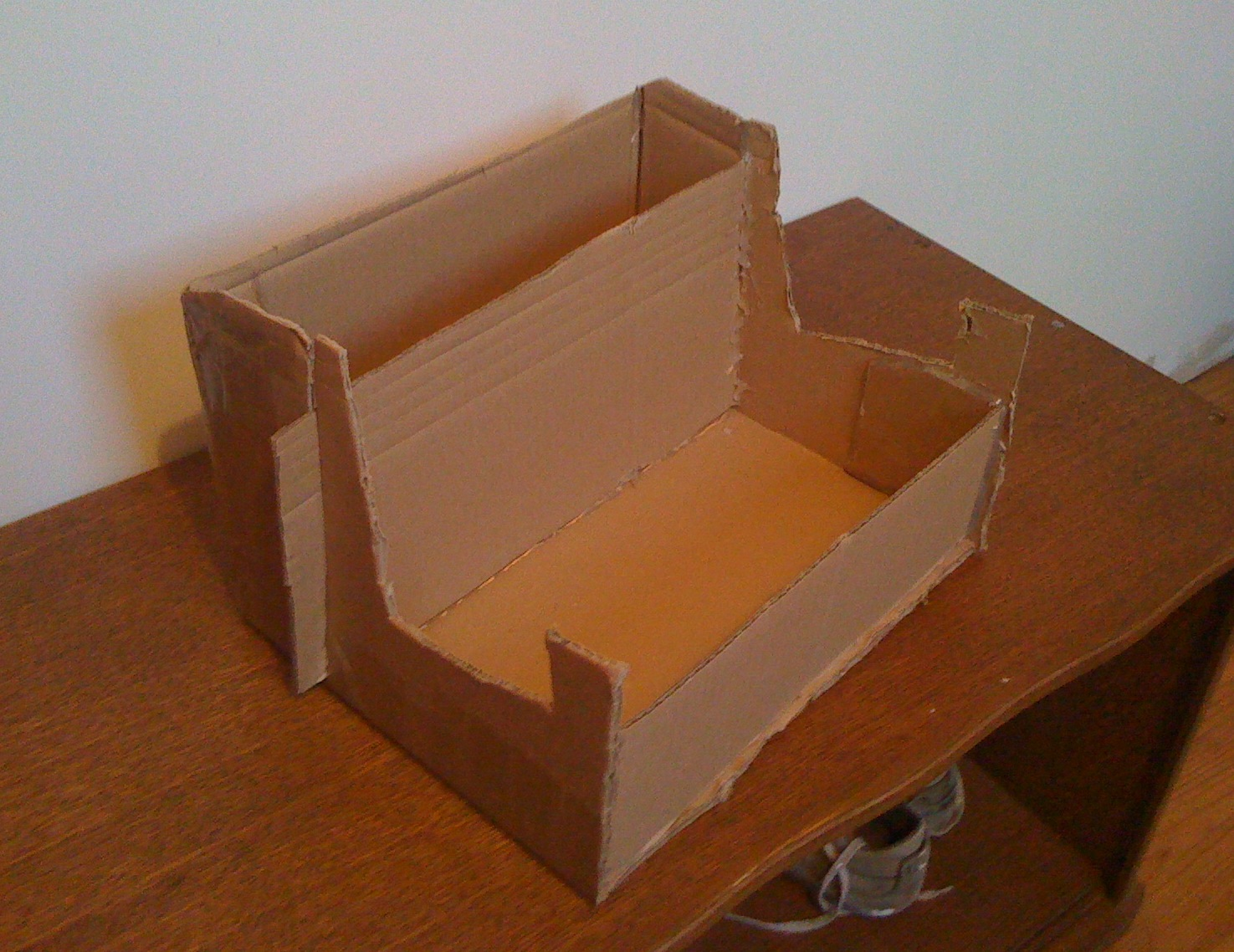 Guitar stand out of a cardboard box