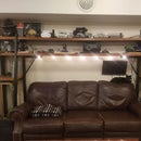 Edison Bulb Projector Shelves