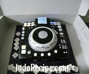 Lighted DJ Turntable Cake