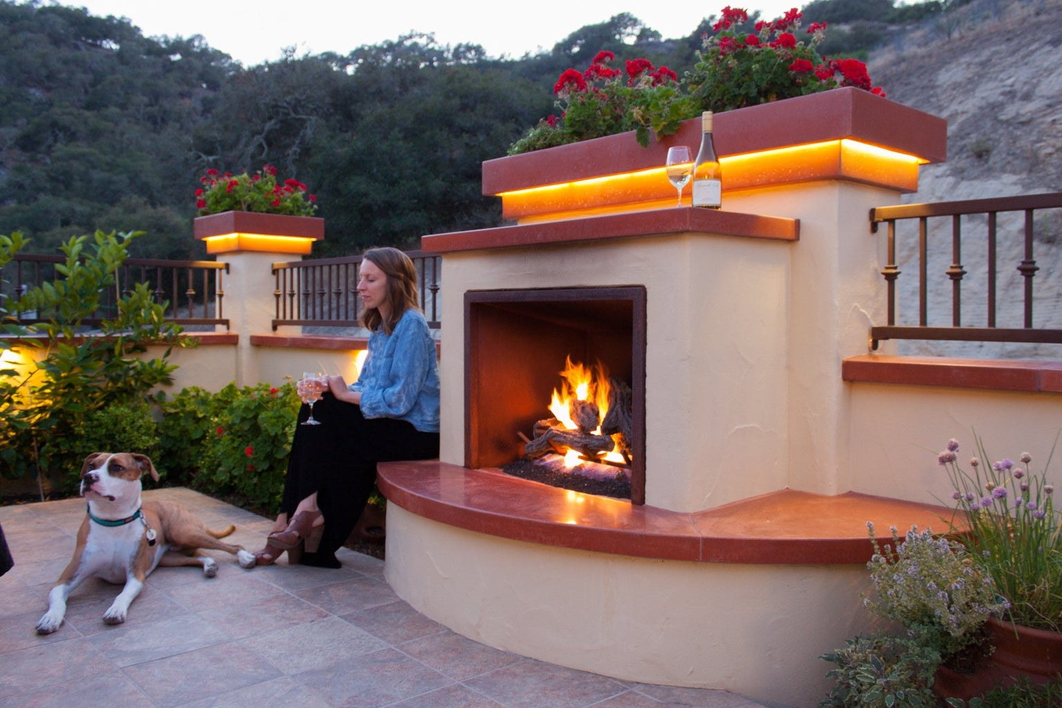 Architectural Cast Concrete: Wall Caps, Column Caps, and Fireplace Hearth and Mantel