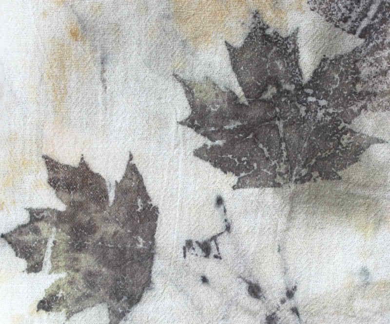 ECO PRINTING on Silk and Cotton Fabric