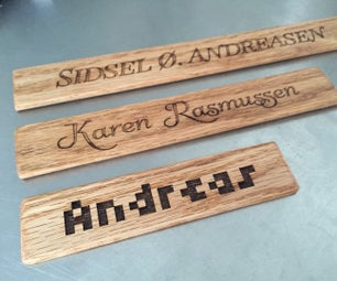 Laser Cut Wooden Name Sign