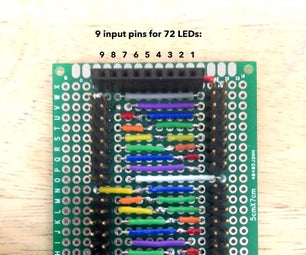 9-Charlieplexor (9-pins for 72 LEDs)