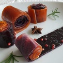 Plum and Apricot Fruit Leather Candy