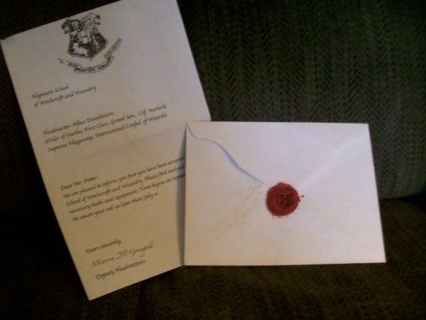 Hogwarts Acceptance Letter W/ Wax Seal
