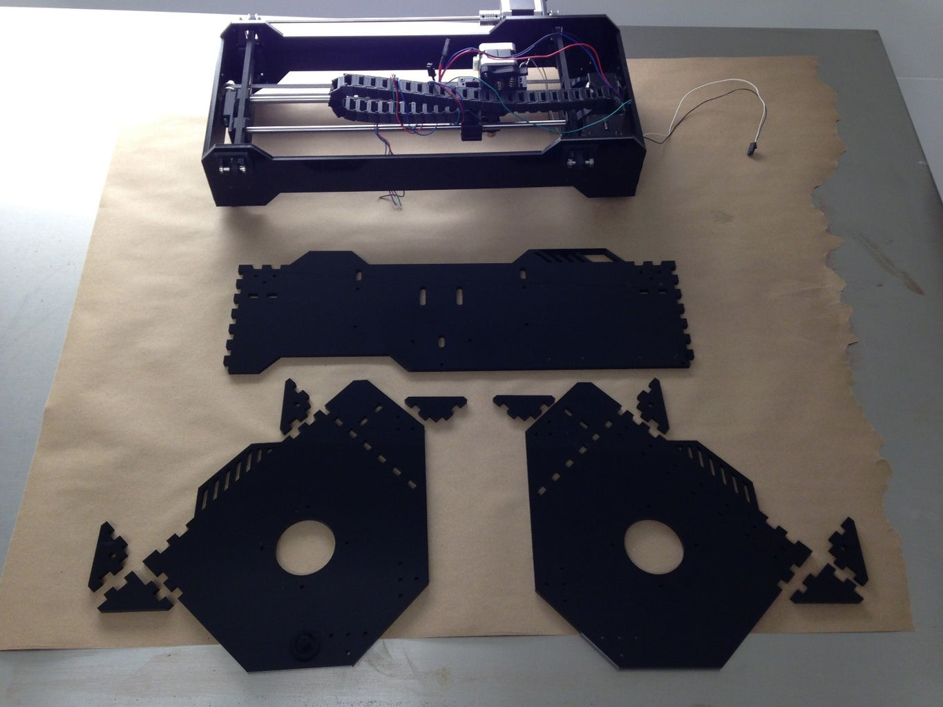 Laser Cut and Assemble the Lower Frame