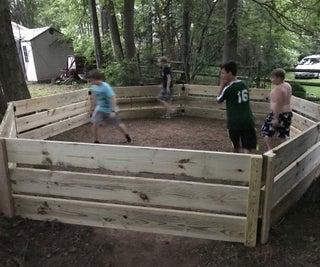 Backyard Ga-Ga Ball Pit ($300)