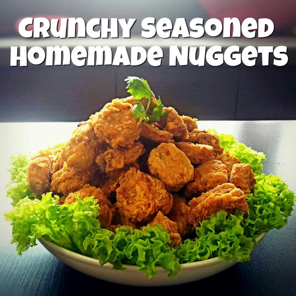Crunchy Seasoned Homemade Nuggets With Sweet & Sour Sauce!