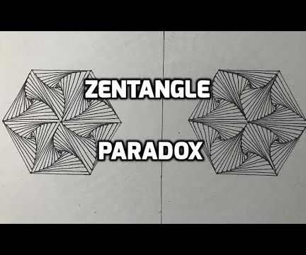 How to Draw the Best Zentangle Paradox Geometric Design for Beginners