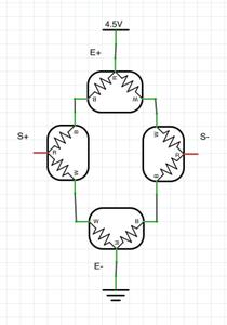 Scale Circuitry: Load Cell Wheatstone Bridge