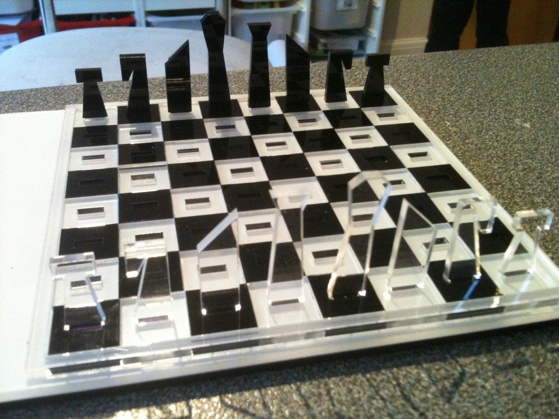 Laser Cut Travel Chess Set