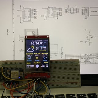 ESP8266 Colored Weather Station
