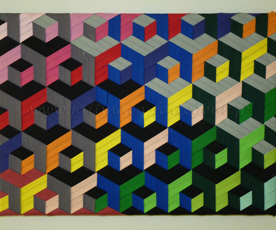 Triaxial weaving canvas (with bias)