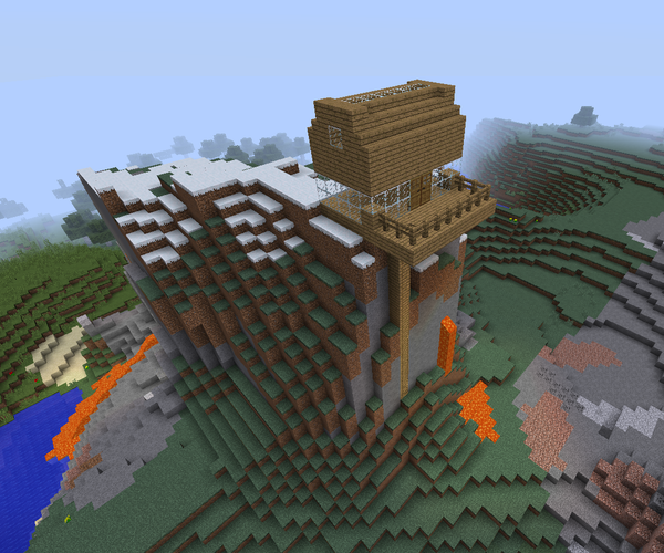 Create Minecraft MountainHouse